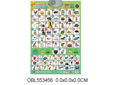 Thai Alphabet Sound Chart Without Electricity  Wall Chart Learning