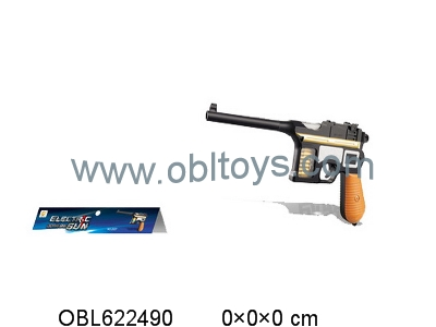 Electric shock Mauser pistol with light sound no packet of