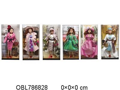 The 11.5 inch Barbie 6 mixed body clothes 1 color 1
