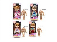 OBL733449 - The 9.5 inch Barbie with music package 4 mixed body clothes 1 color 1