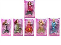 OBL742892 - The 11.5 inch Barbie 6 mixed body clothes 1 color 1
