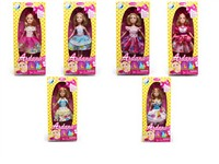 OBL786819 - The 9 inch Barbie 6 mixed body clothes 1 color 1