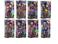 OBL792707 - 9.5 inch solid body joint devil Barbie accessories 8 mixed body clothes 1 color 1