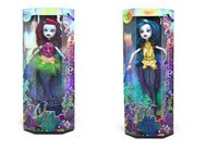 OBL792722 - 9.5 inch solid body joint Mermaid Barbie 2 mixed body clothes 1 color 1