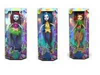 OBL795921 - 10 inch solid body joint devil Mermaid Barbie 3 mixed