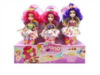 OBL806844 - 12 Zhuang 9 inch real body fairy Barbie 3 mixed body clothes 3 color 3