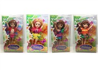 OBL806848 - 12 inch Barbie fairy empty body 4 mixed body clothes 4 color 4
