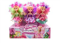 OBL806851 - 12 Zhuang 9 inch real body fairy Barbie 3 mixed body clothes 3 color 3