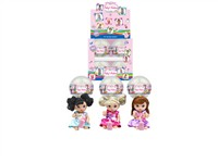 OBL979234 - The 4.5 inch doll accessories 3 mixed body clothes 1 1 12 capsules 1 color display box