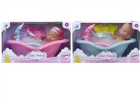 OBL979256 - The 4.5 inch doll tub set 2 mixed