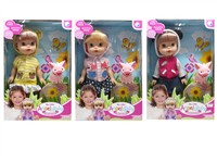 OBL979263 - 13 inch VINYL body Barbie accessories 3 mixed body clothes 1 color 1